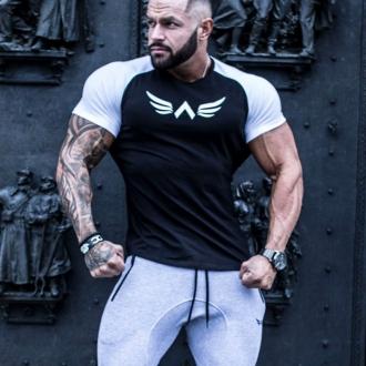 Exalted - Pánske fitness tričko X1 (čierno-biela)