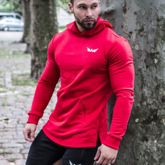 Exalted - Fitness mikina pánska X1 (červená)