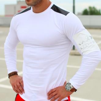 Exalted - Pánske tričko s dlhým rukávom L2 (biela)
