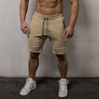 Exalted - Fitness šortky pánske X1 (krémová)