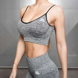 Body Engineers - Fitness podprsenka Valkyrie (čierny melír) BEW061