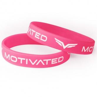 MOTIVATED - Dámsky náramok 201 (ružovo-biela)