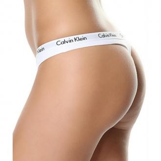 Calvin Klein - Nohavičky tanga (biela) D1617E-100