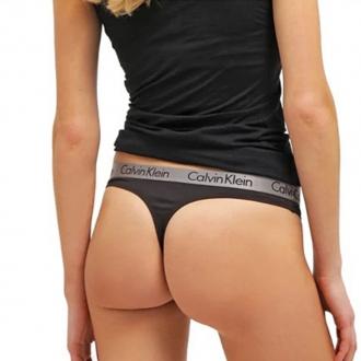 Calvin Klein - Nohavičky Tanga (čierna) QD3539E-001