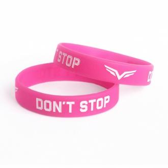 MOTIVATED - Dámsky náramok Dont Stop (ružovo-biela)