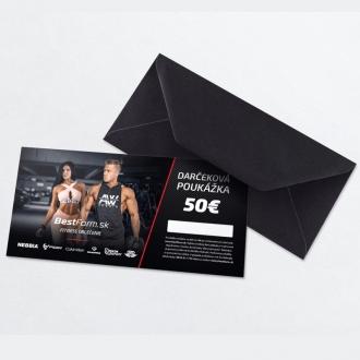 BestForm.sk - Darčeková poukážka tlačená 50€
