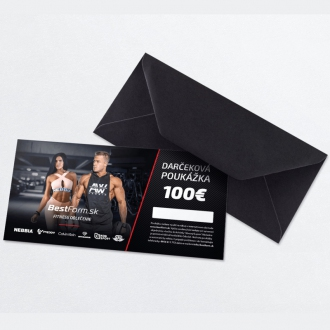 BestForm.sk - Darčeková poukážka tlačená 100€