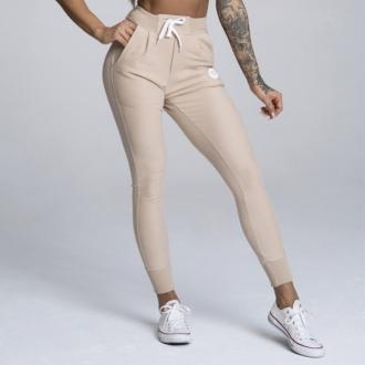 Gym Glamour - Športové tepláky dámske (beige) GG118