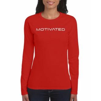 MOTIVATED - VÝPREDAJ Dámske tričko s dlhým rukávom 403 (červená)