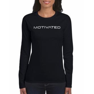 MOTIVATED - Dámske tričko s dlhým rukávom 403 (čierna)