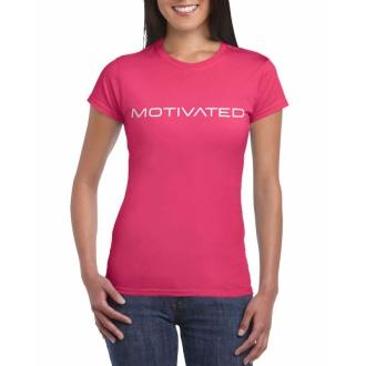 MOTIVATED - Dámske tričko 401 (ružová)