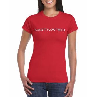 MOTIVATED - Dámske tričko 401 (červená)