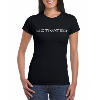 MOTIVATED - Dámske tričko 401 (čierna)