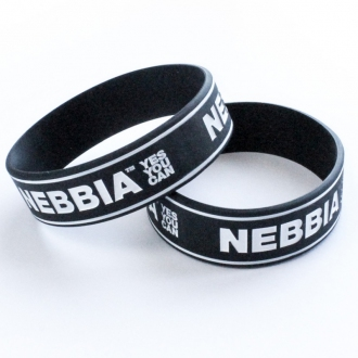 NEBBIA - Pánsky náramok YES YOU CAN (čierna)