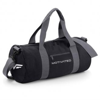 MOTIVATED - Športová taška (čierno-sivá) 320