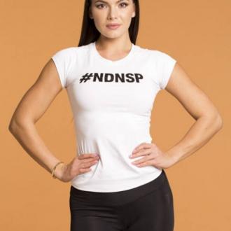 NDN - Fitness tričko dámske MEGAN (biela)