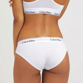 Calvin Klein - Bavlnené nohavičky klasické (biela) F3787E-100