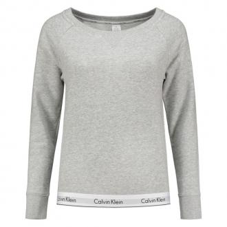 Calvin Klein - Dámska mikina bez kapucne (sivá) QS5718E-020