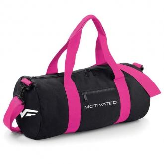 MOTIVATED - Športová taška dámska (čierno-ružová) 413