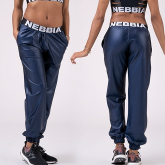 NEBBIA - Nohavice DROP CROTCH 529 (blue)