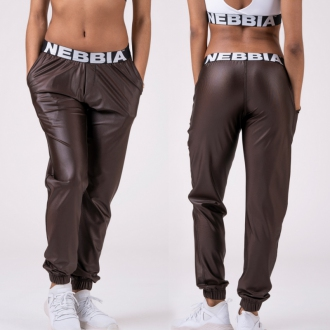 NEBBIA - Nohavice DROP CROTCH 529 (brown)