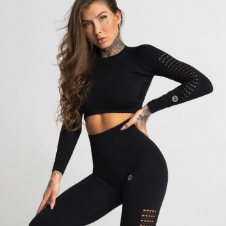Gym Glamour - Crop Top NERO BLACK (SS20-GG2370)