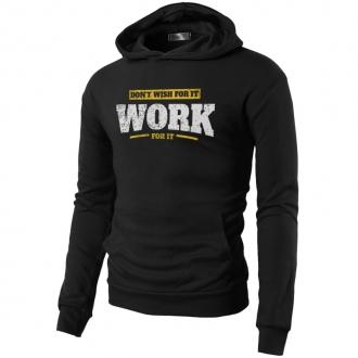 MOTIVATED - Mikina na cvičenie WORK for it (čierna) 339
