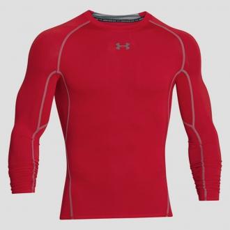 Under Armour - Kompresné tričko dlhý rukáv pánske (červená) 1257471-600