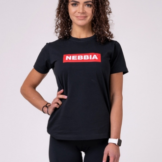 NEBBIA - Dámske tričko BASIC 592 (black)