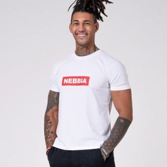 NEBBIA - Tričko pánske BASIC 593 (white)