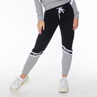 NDN - Fitness tepláky dámske AMILLA (čierno-sivá)