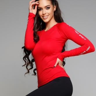 NDN - Funkčné tričko s dlhým rukávom GERTI (červená)