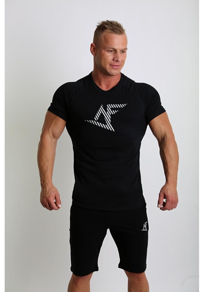 de56131d9 Pánske tričko na cvičenie od českej značky Aesthetic Fitness v čiernej  farbe: