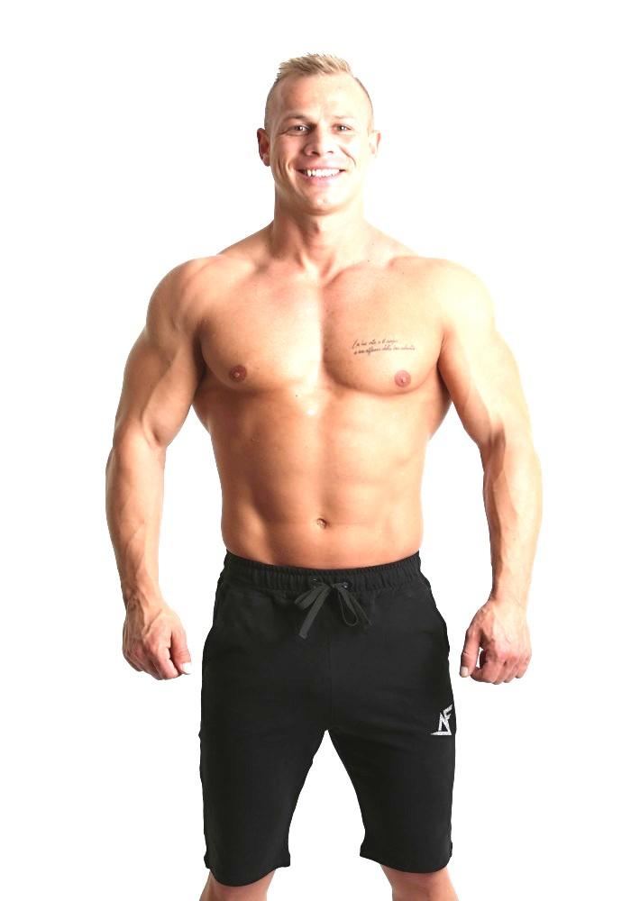 Pánske šortky na cvičenie od českej značky Aesthetic Fitness v čiernej  farbe  98576deed4