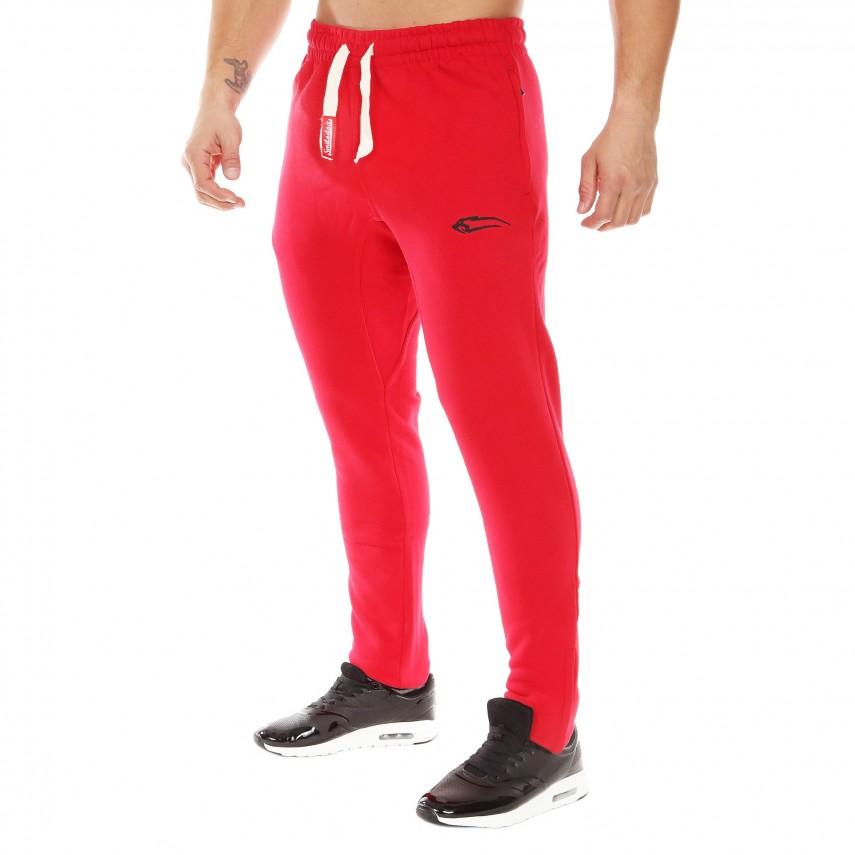 Pánske tepláky na cvičenie v červenej farbe od nemeckej značky Smilodox  8ca505363f